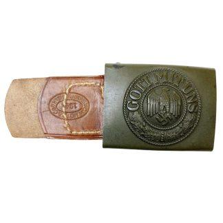 Original WWII German WH belt buckle with tab - C.W. Motz & Co.