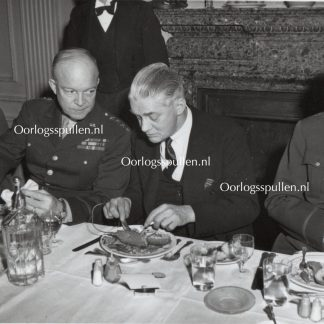 Original WWII British photo 'General Eisenhower and Colonel the Rt Hon in Nuffield' 1944