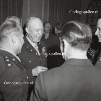 Original WWII British photo 'General Eisenhower and Air Chief Marshall Sir Arthur Tedder' 1944