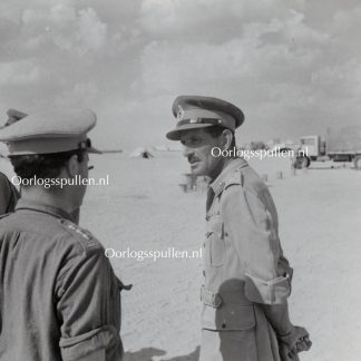 Original WWII British photo 'Major General Briggs GOC 1st Armored Division in the dessert' 1942