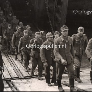 Original WWII British photo 'German POW's from Normandy in England'