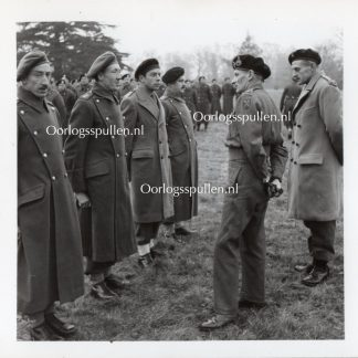 Original WWII British photo 'Montgomery and Lt Colonel G Pritchett' 1944