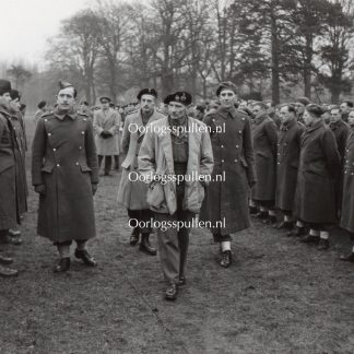 Original WWII British photo 'Montgomery inspecting units in Norfolk' 1944