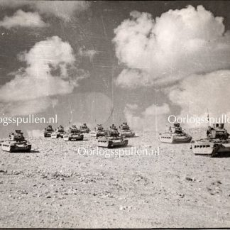 Original WWII British photo 'Tanks on patrol near Tobruk'