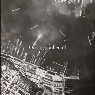 Original WWII British photo 'Air attack on Taranto (Italy)'