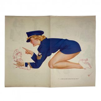 Original WWII US pin up poster