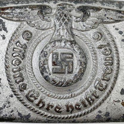 Original WWII German Waffen-SS buckle - Unmarked Overhoff & Cie