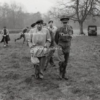 Original WWII British photo 'Montgomery and Brigadier FYC Knox DSO in Sotterley Park' 1944