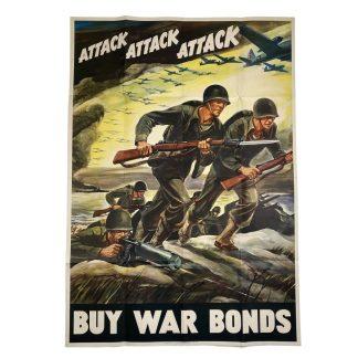 Original WWII US poster – Attack! Attack! Attack!