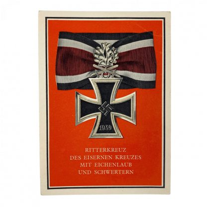 Original WWII German Knights Cross postcard