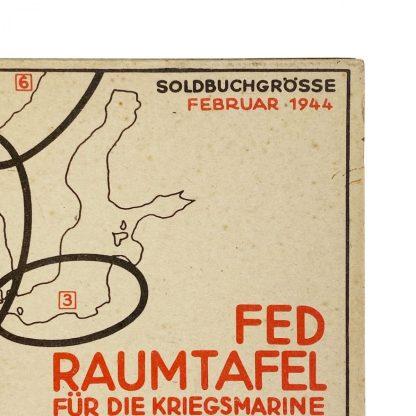 Original WWII German Kriegsmarine FED Raumtafel soldbuchgrösse