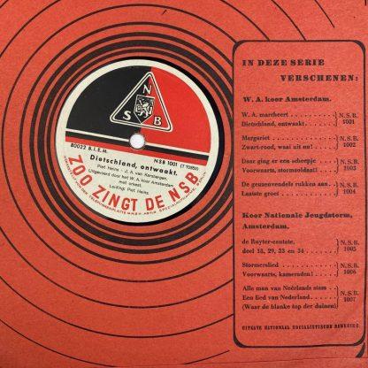 Original WWII Dutch NSB LP