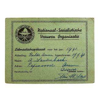 Original WWII Dutch N.S.V.O. member card Papenvoort