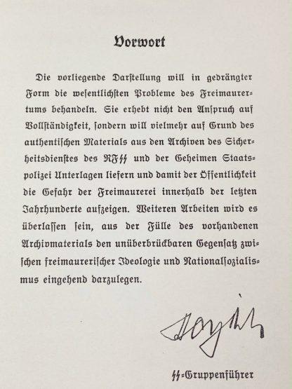 Original WWII German SS book 'Die Freimaurerei'
