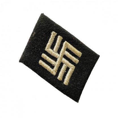 Original WWII German Waffen-SS temporary concentration camp collar tab