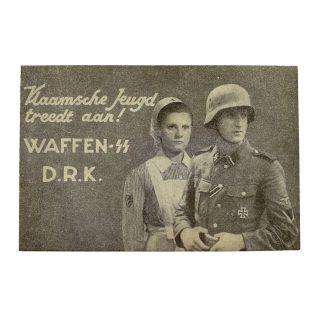 Original WWII Flemish Waffen-SS/DRK post card