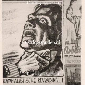 Original WWII Dutch collaboration poster photo