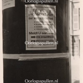 Original WWII Dutch collaboration poster photo