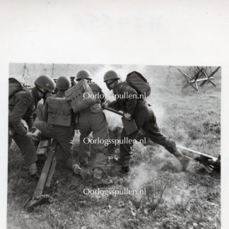 Original WWII British photo 'Airborne Artillery in Netheravon'