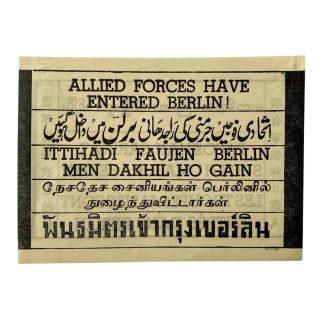 Original WWII British dropping flyer