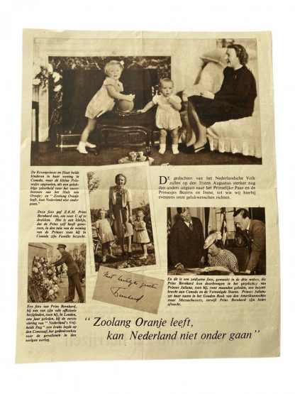 Original WWII Dutch dropping flyer 'Nederland zal Herrijzen'