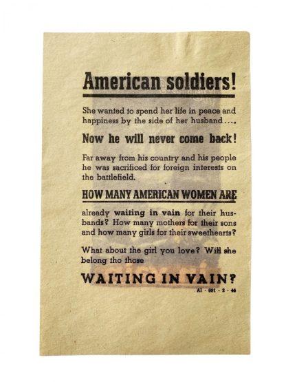 Original WWII German dropping flyer