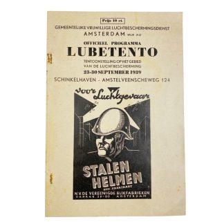 Original Pré 1940 Dutch Luchtbeschermingsdienst Amsterdam exhibition booklet