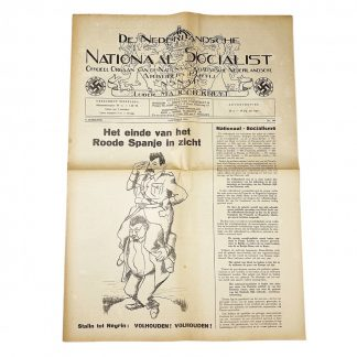 Original WWII Dutch NSNAP newspaper