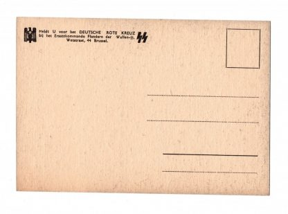 Original WWII Flemish Waffen-SS DRK post card