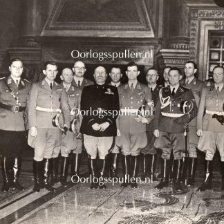 Original WWII German NSDAP large photo Gauleiter Bohle & Mussolini in Rome