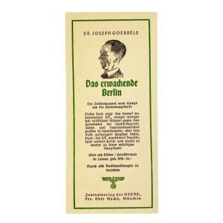 Original WWII German bookmark