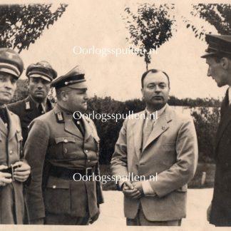 Original WWII German photo – Personal photo of Anton Mussert Airfield Halle/Leipzig