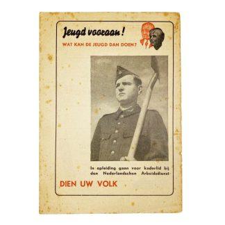 Original WWII Nederlandsche Arbeidsdienst flyer – Jeugd vooraan!