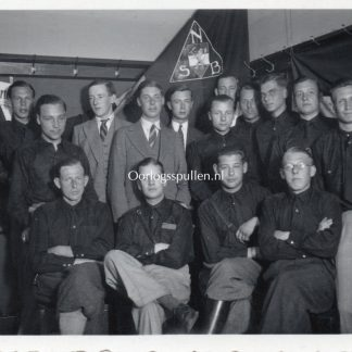 Original WWII Dutch NSB photo 'Members in Bingen (Germany)'