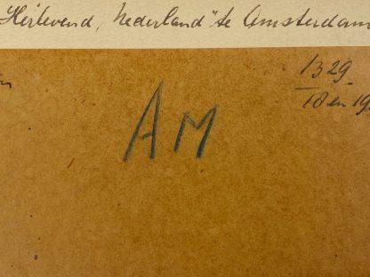 Original WWII Dutch NSB photos 'Mussert at the exhibition Herlevend Nederland'