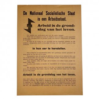 Original WWII Dutch NSB leaflet
