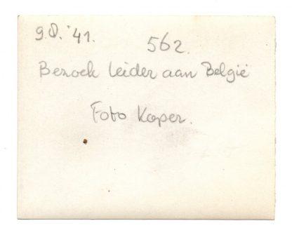 Original WWII Dutch NSB photo 'Anton Mussert visiting Belgium'