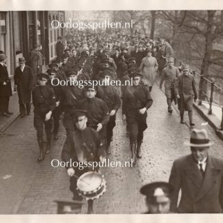 Original WWII Dutch NSB large photo 'NSB marching in Utrecht in 1933'