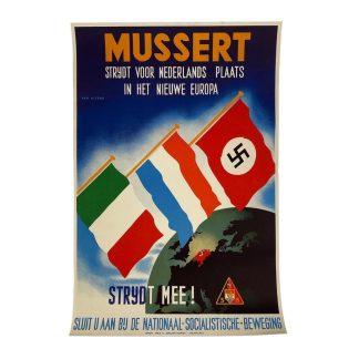 Original WWII Dutch NSB poster