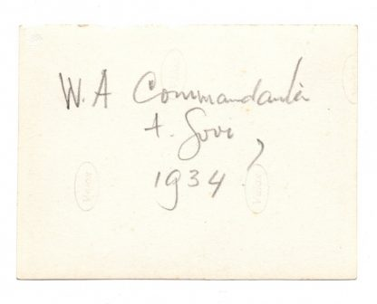 Original WWII Dutch NSB photo 'Group with W.A. commander'