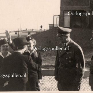 Original WWII Dutch SS photo SS-Gruppenführer Seyss-Inquart & Schmidt