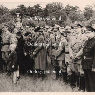 Original WWII Dutch NSB photo – Funeral of Fritz Schmidt