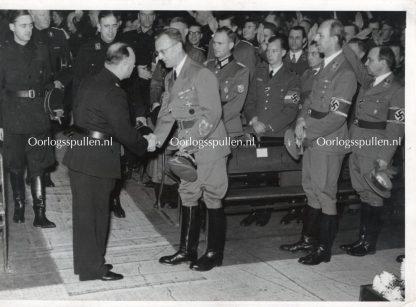 Original WWII Dutch NSB photo 'Seyss-Inquart & Anton Mussert'
