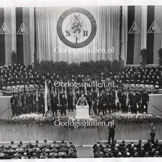 Original WWII Dutch SS large photo 'Arthur Seyss-Inquart during speech'