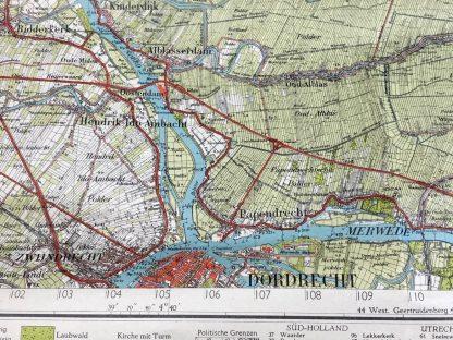 Original WWII German 'Truppenkarte' West-Gorinchem 1943