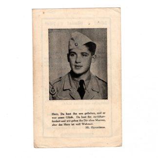 Original WWII German Fallschirmjäger death card - Italy