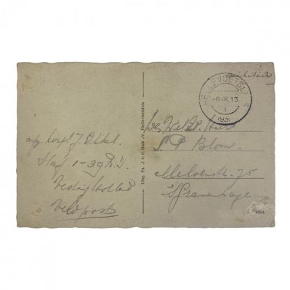 Original Pré 1940 Dutch army postcard – Hellevoetsluis