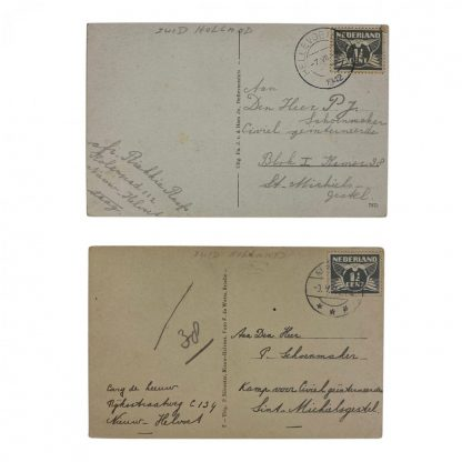 Original WWII Dutch Camp St. Michielsgestel postcards – Hellevoetsluis