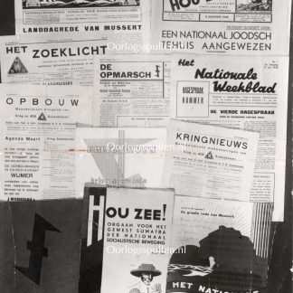 Original WWII Dutch NSB photo – Newspapers and magazines