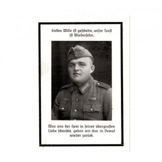 Original WWII German death notice Oud-Alblas 1945